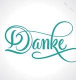 DANKE hand lettering (vector). DANKE hand lettering - handmade calligraphy; vector illustration (eps10 Stock Images
