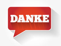 Danke Thank You in German Stock Images