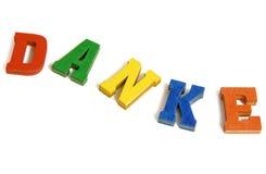 Danke/ Thank you Stock Photography
