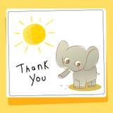Danke, Tierkarte zu lieben und zu helfen stock abbildung