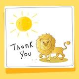 Danke, Tierkarte zu lieben und zu helfen vektor abbildung