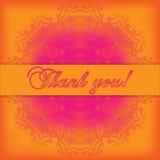Danke zu kardieren Dankbarkeitstext auf hellem Hintergrund mit glänzendem t Lizenzfreie Stockbilder