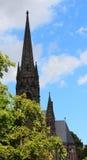 Dankeskirche in de stad Slechte Nauheim, Duitsland van het Kuuroord Royalty-vrije Stock Fotografie