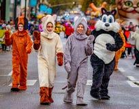 Danksagung Macy Parade 2016 stockfotos