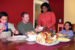 Danksagungs-Familien-Abendessen lizenzfreies stockbild