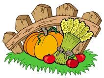 Dankzegging beweging veroorzakend met oogst Stock Foto's