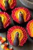 Dankzegging cupcakes Royalty-vrije Stock Fotografie