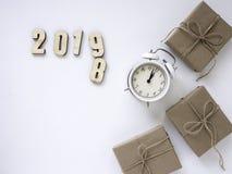Dankzegging en Kerstmis met Nieuw jaar 2019 royalty-vrije stock foto