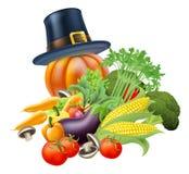 Dankzeggings vegatables illustratie Stock Afbeelding
