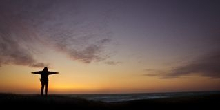 danmark ηλιοβασίλεμα στοκ εικόνα