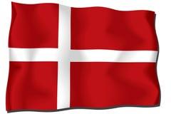 danmark σημαία Στοκ φωτογραφίες με δικαίωμα ελεύθερης χρήσης