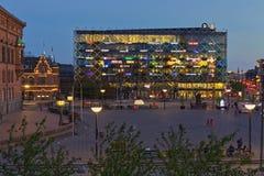 Danmark branschbyggnad och logoer royaltyfri fotografi