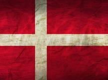 Danmark flagga på papper royaltyfri bild