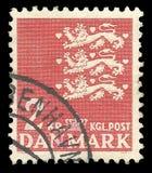 Danmark heraldiska djur, stiliserade djur Arkivbilder