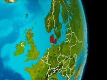 Danmark på jord Royaltyfri Foto