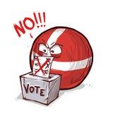 Danmark som röstar inte royaltyfri illustrationer