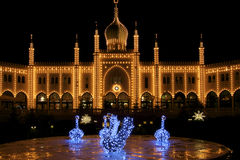 Danmark: Tivoli i Köpenhamn Royaltyfri Foto