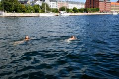 DANMARK `-WEATHER_Summer värmeböljor i Danmark royaltyfri fotografi