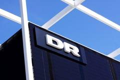"""Danmarks do †do Dr. os """"transmitem por rádio o logotype do Dr. em um painel Rádio de Danmarks Imagens de Stock Royalty Free"""