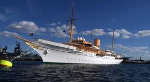 Danneborg - Denmark's Queen's Royal yacht Royalty Free Stock Images
