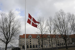DANNEBORG AT HALF MAST_FOREIGN MINISTRY Royalty Free Stock Photos