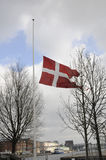 DANNEBORG AT HALF MAST_FOREIGN MINISTRY Stock Photo