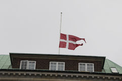 DANNEBORG AT HALF MAST_MINISTRY OF DEFENCE Royalty Free Stock Image