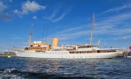 Danneborg - het Koninklijke jacht van de Koningin van Denemarken Stock Afbeeldingen
