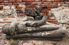 Danneggi la statua di Buddha in tempio del mahathat del wat, Tailandia Fotografia Stock Libera da Diritti