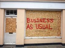 Danneggiamento dei negozi a Greenwich fotografia stock