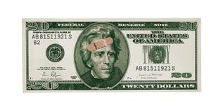 Danneggiare dollaro immagini stock