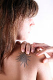 Danneggiare dolore! Immagini Stock Libere da Diritti