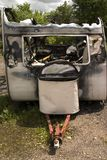 Danni di fuoco fotografie stock libere da diritti