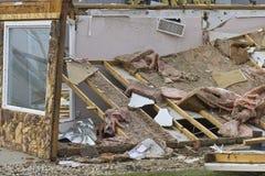 Danni provocati dal maltempo VII di tornado Immagine Stock