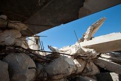 Danno da bombardamento israeliano a Gaza Fotografie Stock Libere da Diritti