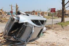 Danno dal ciclone EF5 Fotografie Stock Libere da Diritti