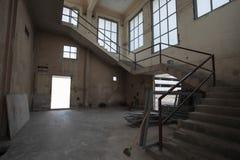 Danno del buildind di Interion Fotografie Stock