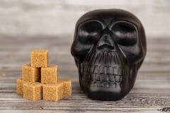 Danno del concetto dello zucchero immagini stock