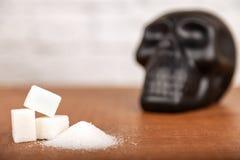 Danno del concetto dello zucchero fotografie stock libere da diritti