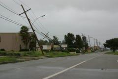 Danno del Gustav di uragano Fotografia Stock