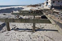 Danno del sentiero costiero Fotografia Stock