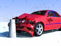 Danno dell'automobile Fotografia Stock