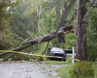 Danno della Irene di uragano Immagini Stock