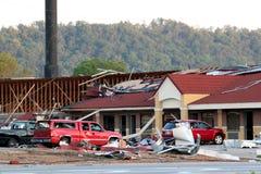 Danno di ciclone di Ringgod Georgia Immagine Stock