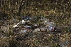 Danno ecologico Immagini Stock