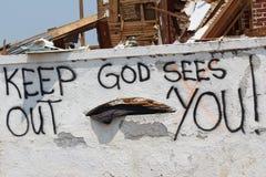 Danno EF5 dal ciclone in Joplin, Mo. Fotografia Stock Libera da Diritti