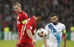 Danny Bayer 04 Leverkusen v Zénith Saint-Pétersbourg Champion League Stock Images