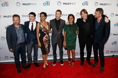 Danny Cannon, Robin Lord Taylor, Zabryna Guevara, Benjamin McKenzie, Jada Pinkett Smith, Donal Logue, et Sean Pertwee Images stock