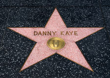 Danny Kaye star on the Hollwyood Walk of Fame Stock Photos