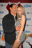 Danny Trejo,Paula LaBaredas. Danny Trejo and Paula LaBaredas at Bridgetta Tomarchio B-Day Bash and Babes in Toyland Toy Drive, Lucky Strike, Hollywood, CA. 12-04 stock photography